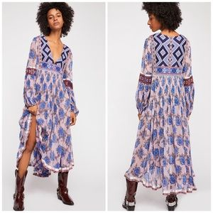 NWT RARE Free People Bold Blooms Embroidered Dress